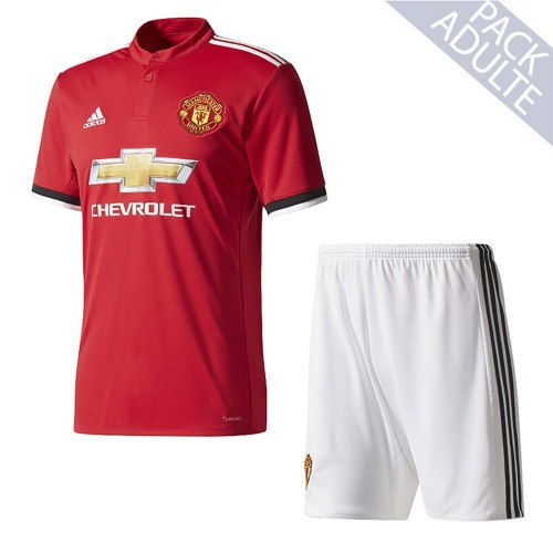 PACK MANCHESTER UNITED DOMICILE. ENSEMBLE ADULTE MAILLOT ET SHORT 2017-2018