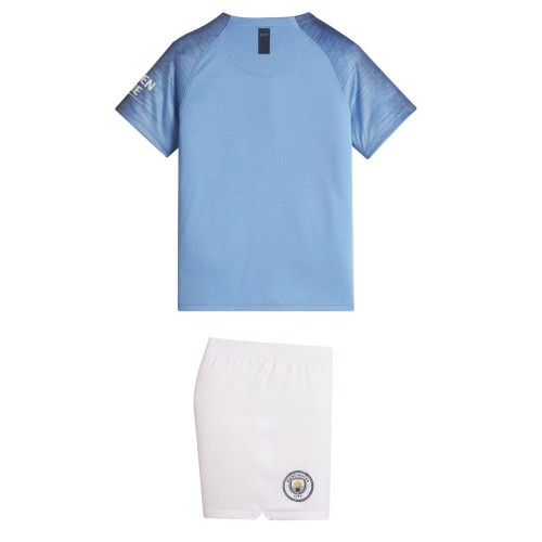 PACK JUNIOR MANCHESTER CITY DOMICILE. ENSEMBLE MAILLOT ET SHORT 2018-2019