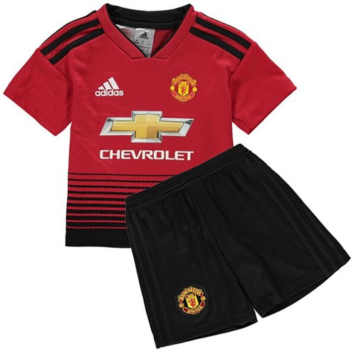 PACK JUNIOR MANCHESTER UNITED DOMICILE. ENSEMBLE MAILLOT ET SHORT 2018-2019