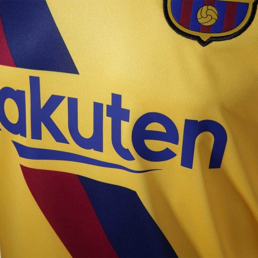 PACK FC BARCELONE EXTERIEUR. ENSEMBLE ADULTE MAILLOT ET SHORT 2019-2020