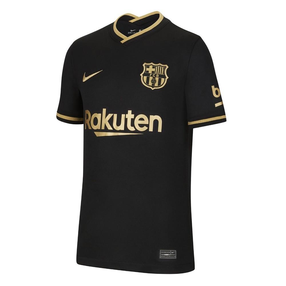 PACK JUNIOR FC BARCELONE EXTERIEUR. ENSEMBLE MAILLOT ET SHORT 2020-2021