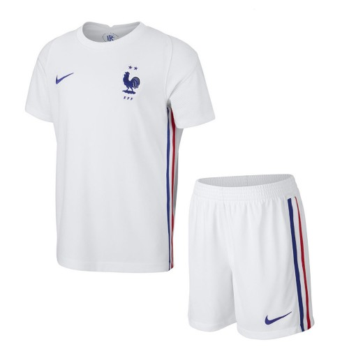 PACK JUNIOR FRANCE EXTERIEUR. ENSEMBLE MAILLOT ET SHORT 2020-2021